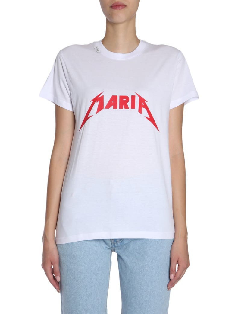 Forte Couture Round Collar T-shirt - BIANCO