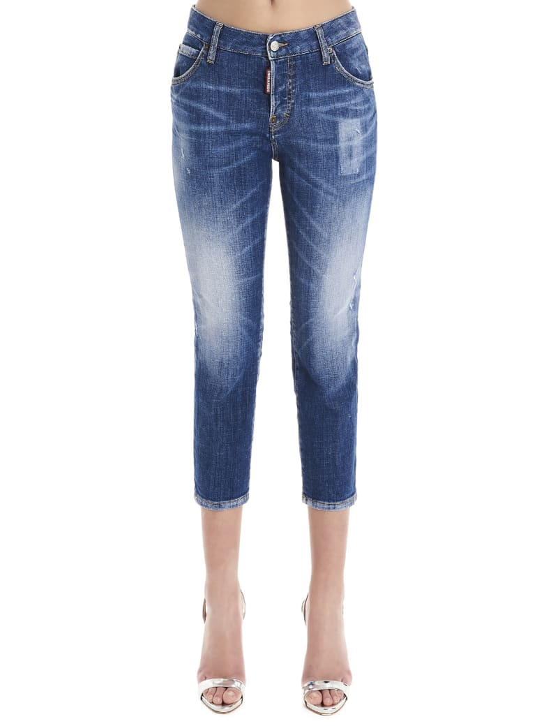 Dsquared2 'cool Girl Cropped' Jeans - Blue