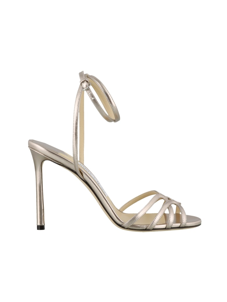 Jimmy Choo Mimi Pump Sandals - Platinum