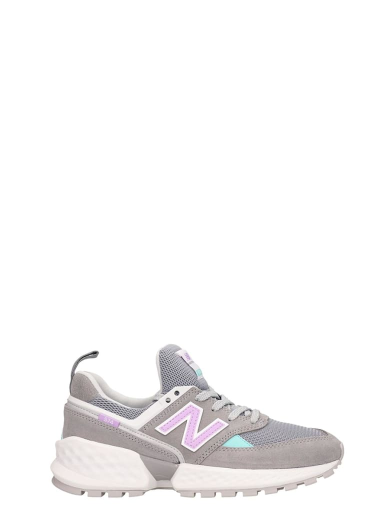 New Balance Grey Leather And Fabric 574 Sneakers - grey