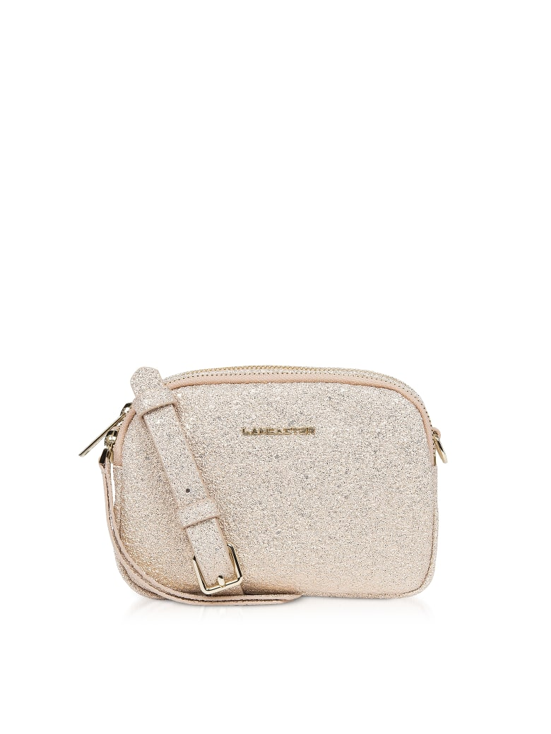 Lancaster Paris Actual Shiny Mini Crossbody Bag - Rose Gold