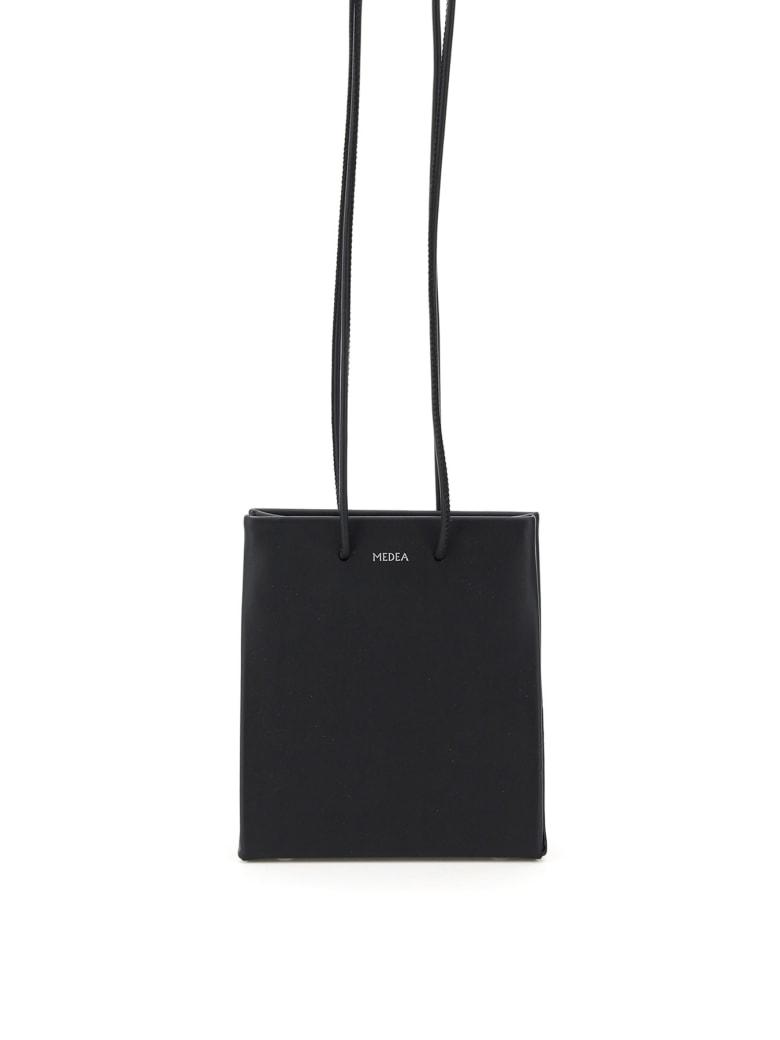 Medea Short Prima Bag With Long Strap - BLACK (Black)