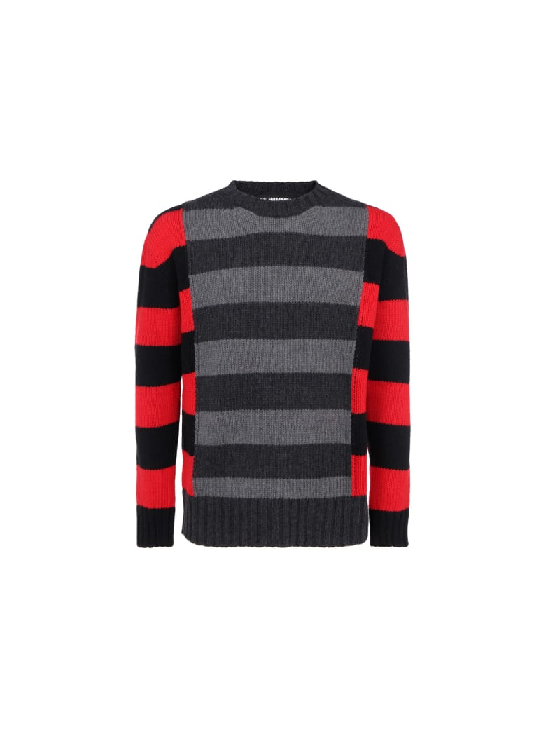 Les Hommes Sweater - Blackred