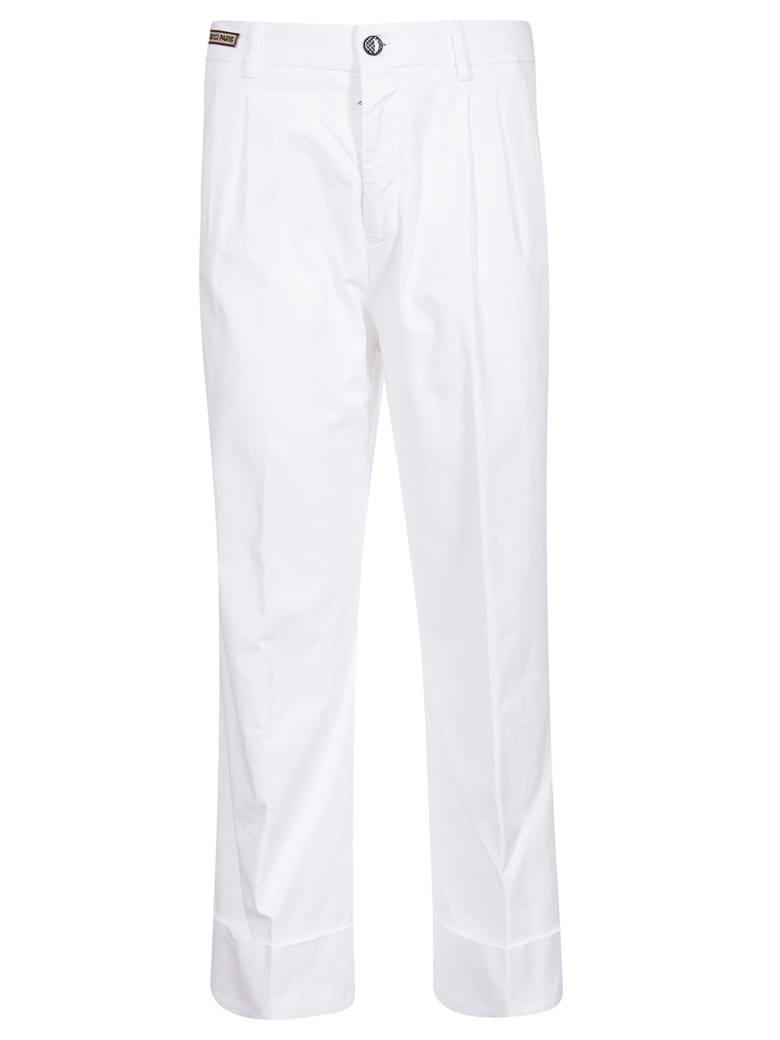 Berwich Cropped Trousers - White