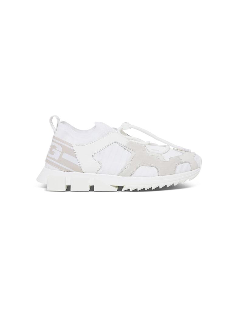 Dolce & Gabbana Blend-material Sorrento Trekking Sneakers - White