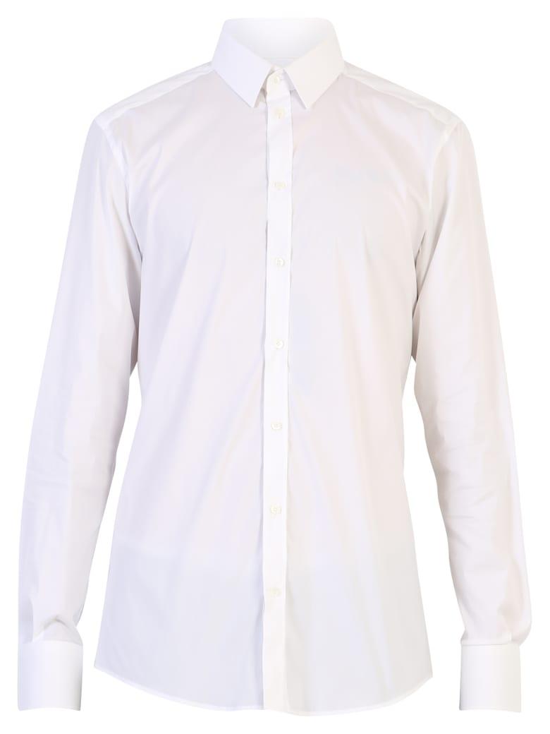 Dolce & Gabbana White Stretch Shirt - White