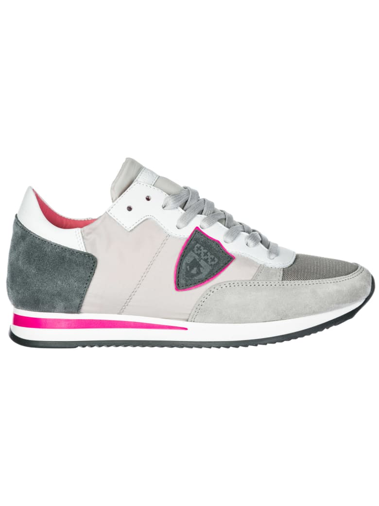 Philippe Model  Shoes Suede Trainers Sneakers Tropez - Mondial gris