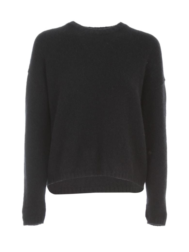 Nuur Boxy Round Neck Sweater - Navy