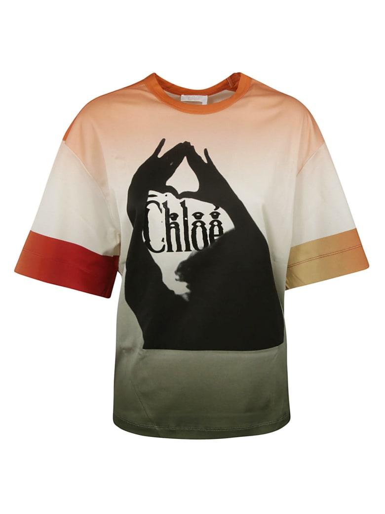 Chloé Printed T-shirt - PINK-GREY