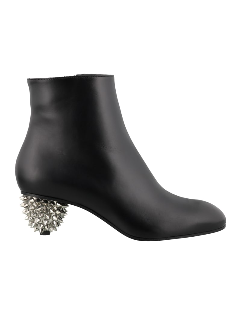 Alexander McQueen Ankle Boots With Heel Detail - Black