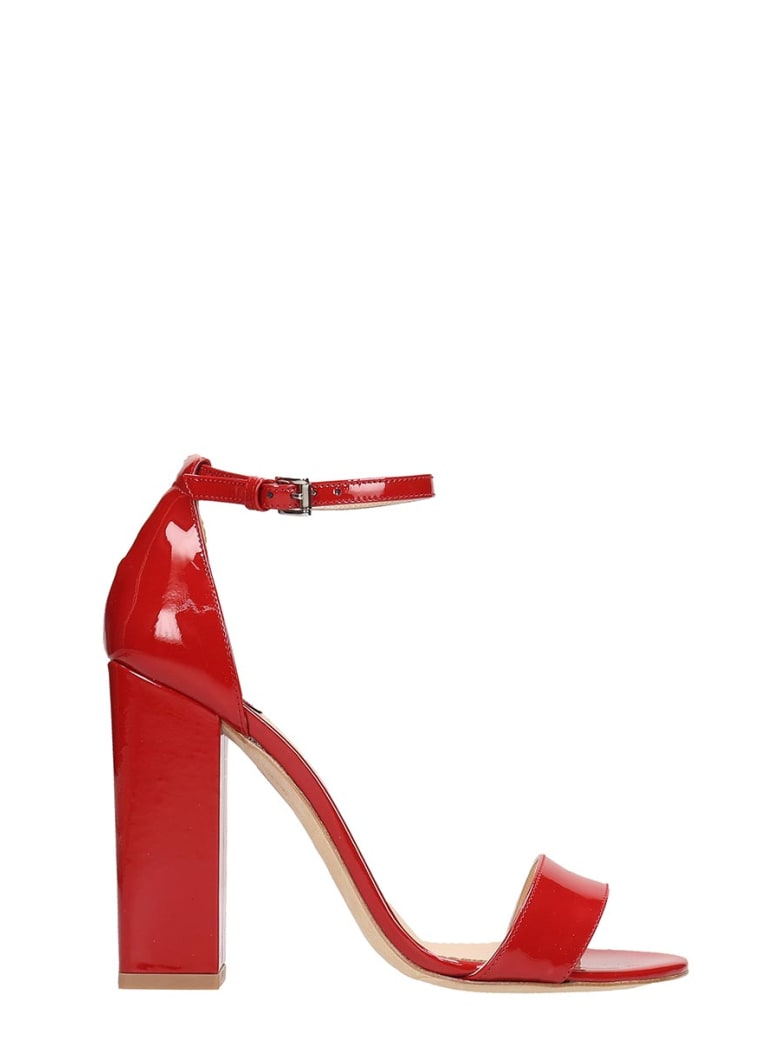 The Seller Red Patent Sandals - red
