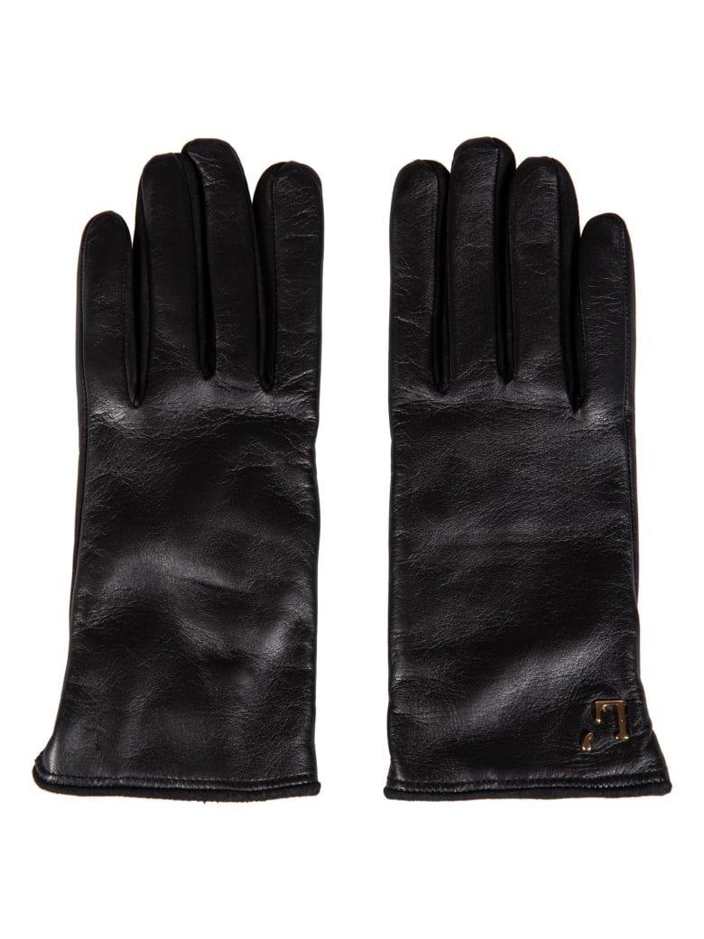 L'Autre Chose Logo Plaque Gloves - Black