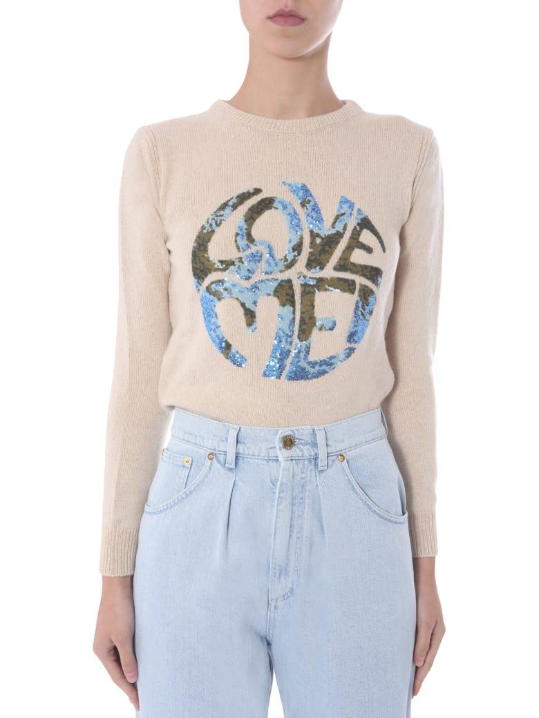 Alberta Ferretti Love Me Sweater - BEIGE