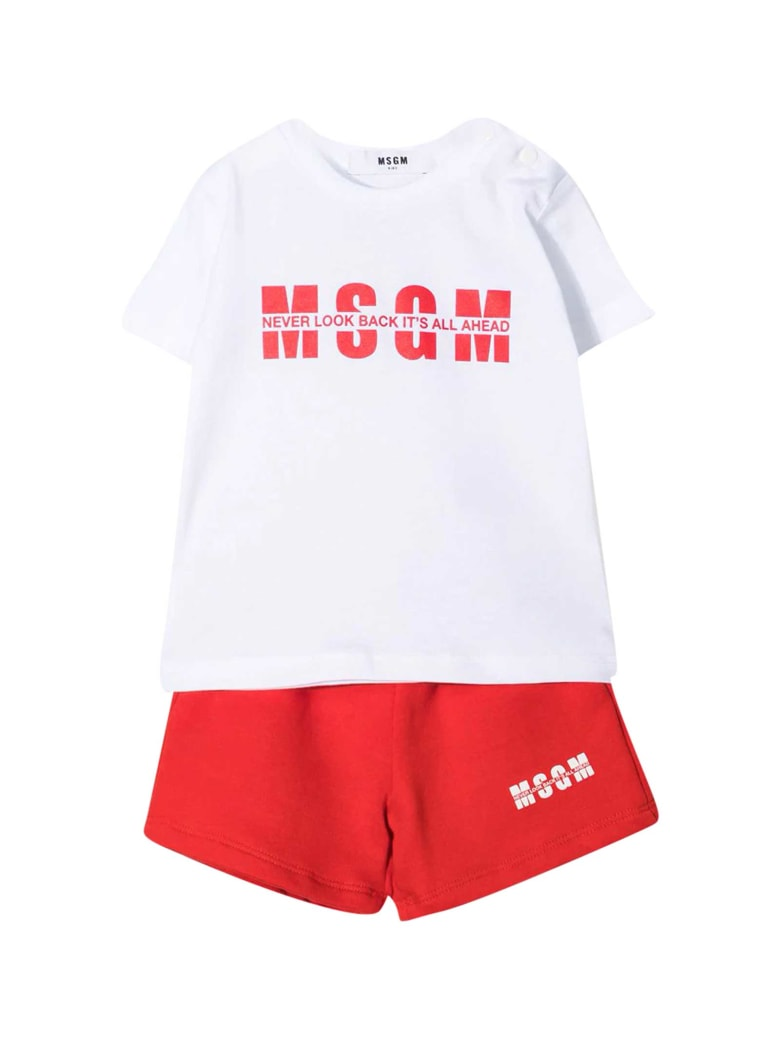 MSGM Sports Outfit - Rosso