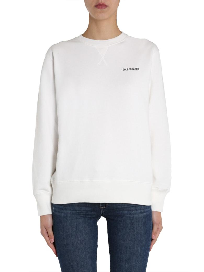 Golden Goose Round Neck Sweatshirt - White