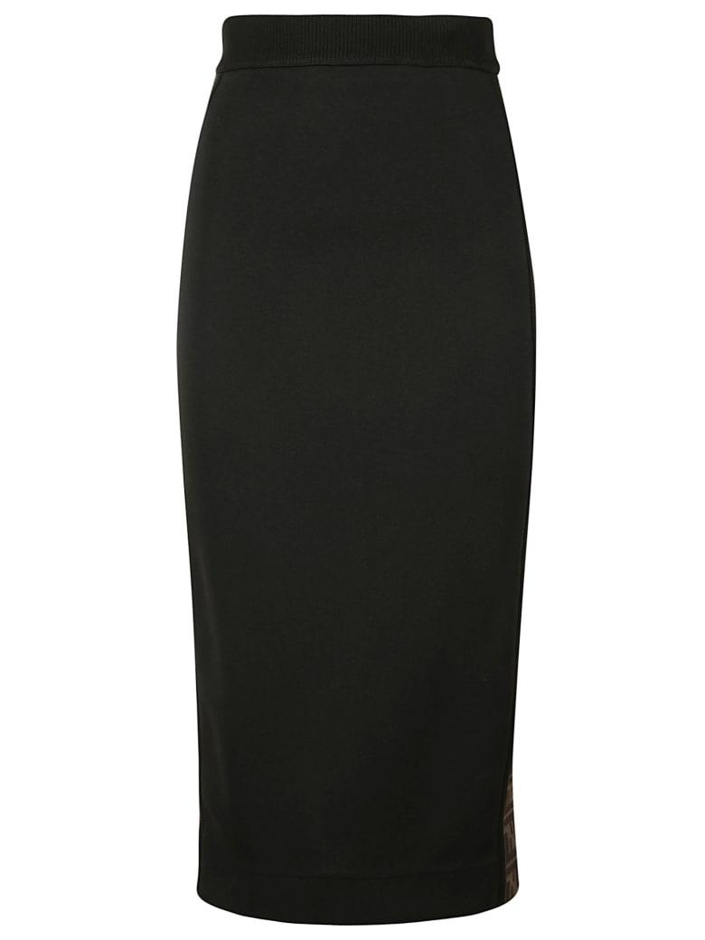 Fendi Long Back Zip Skirt - Black