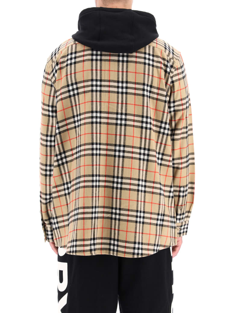 Burberry Tartan Shirt With Vest - Nero