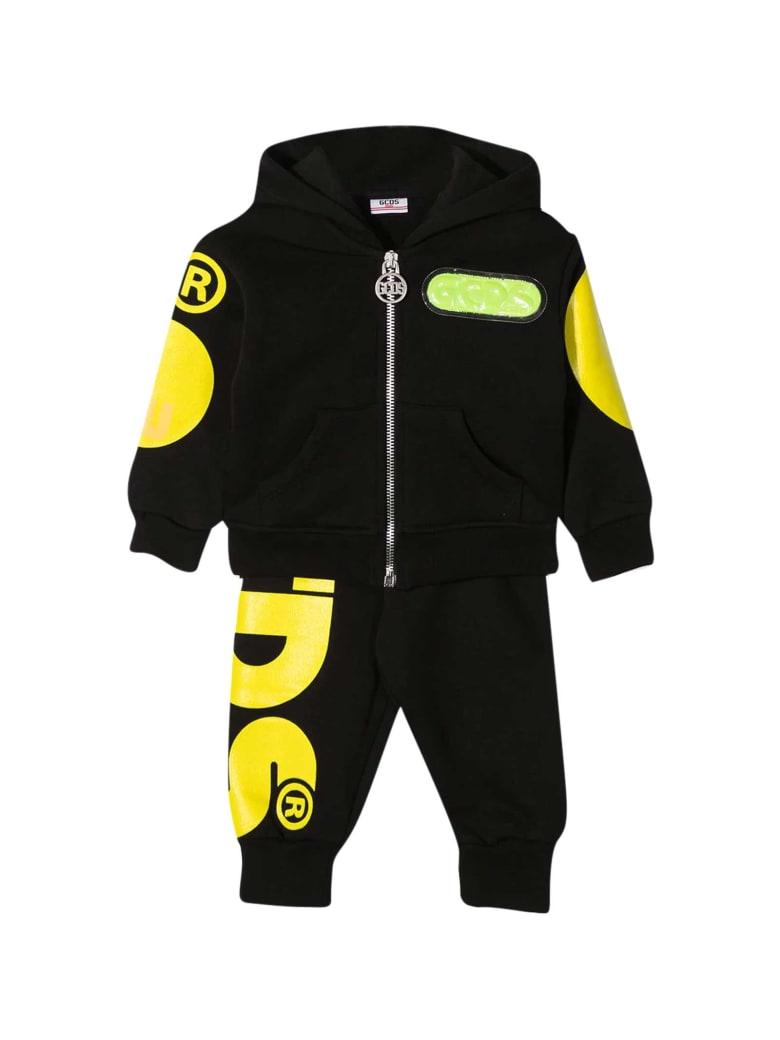 GCDS Mini Black Sports Suit - Nero