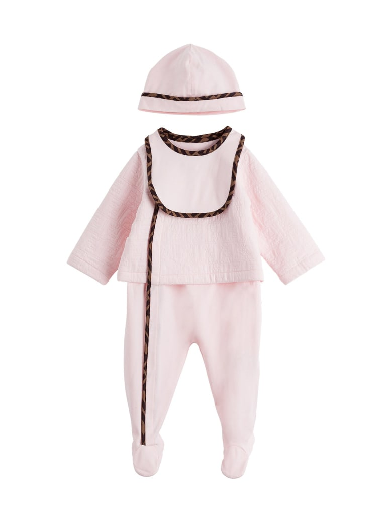 Fendi Ff-trim Three-piece Set - Pink