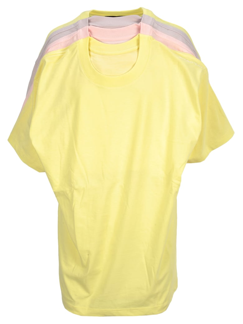 Y/Project Y/project Four Layered T-shirt - YELLOW MULTI