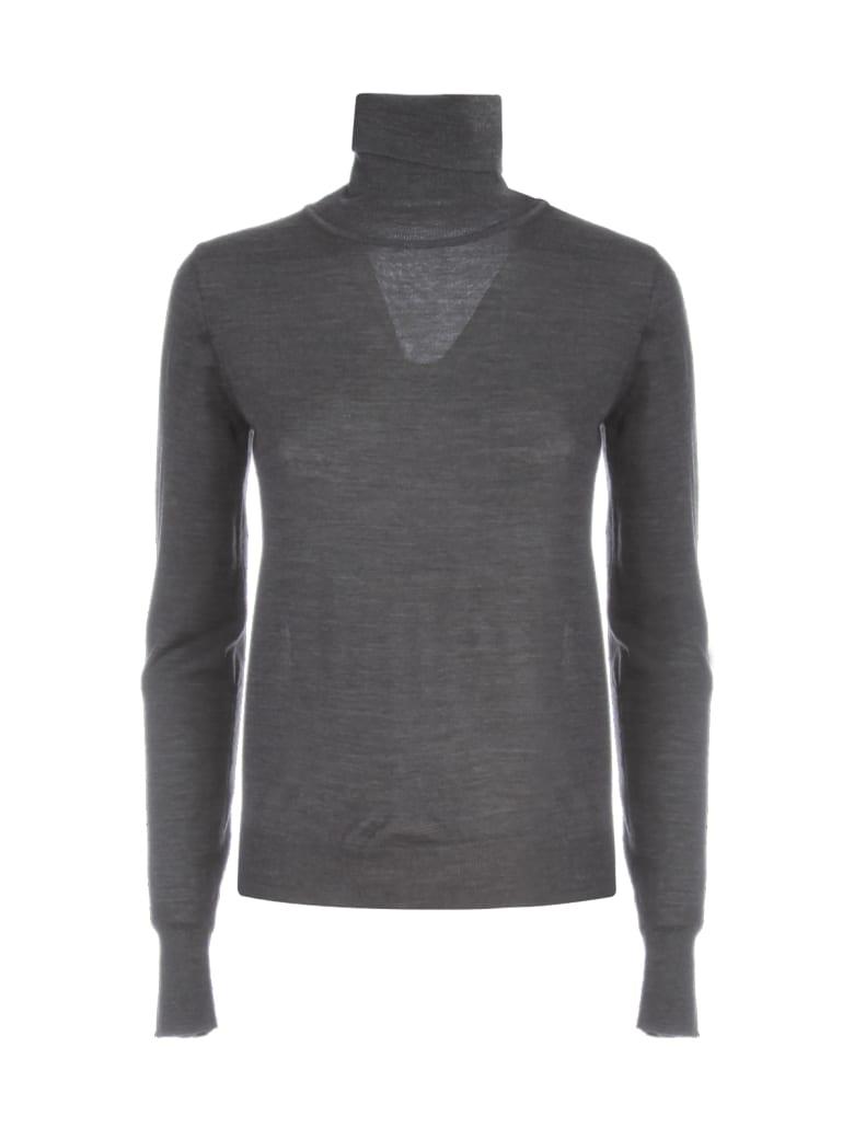 Nuur High Neck 100% Merino Wool Sweater - Antracite