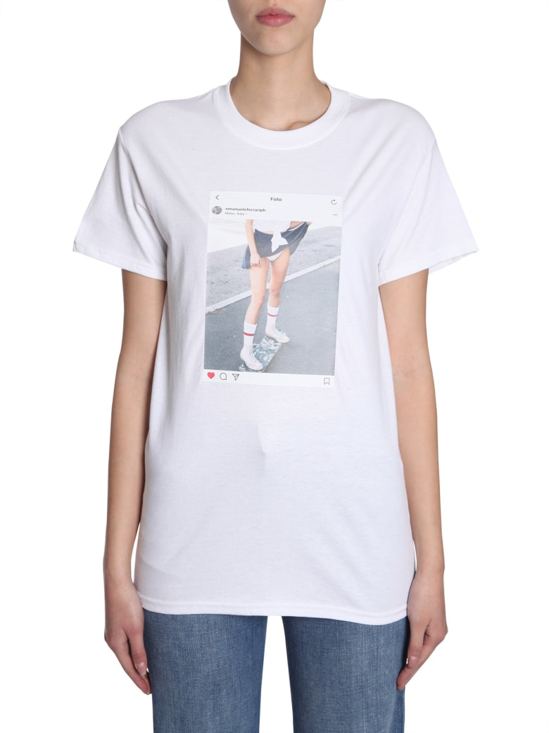 EMANUELEFERRARISTUDIO Instagram Picture T-shirt - BIANCO