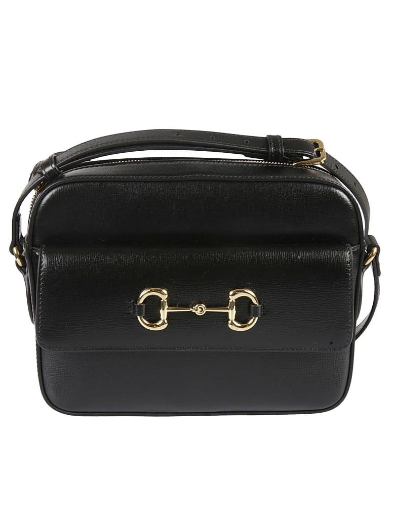 Gucci Top Zip Shoulder Bag - Black