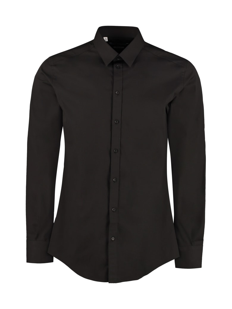 Dolce & Gabbana Classic Italian Collar Cotton Shirt - black