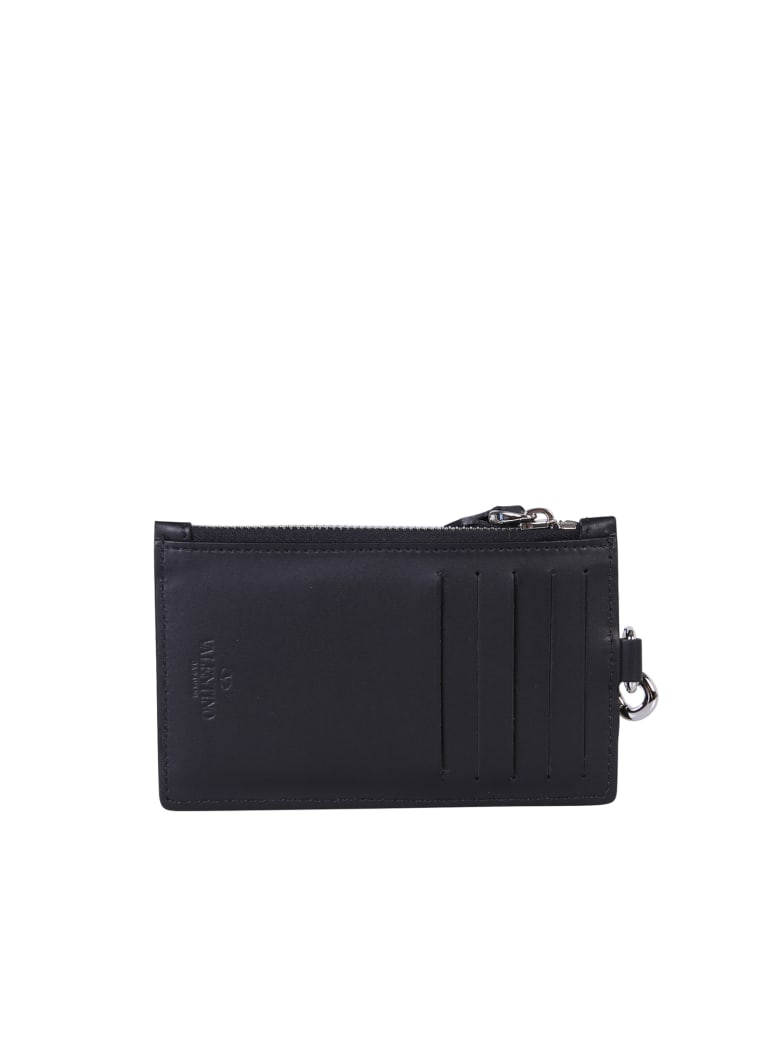 Valentino Branded Card Holder - Nero