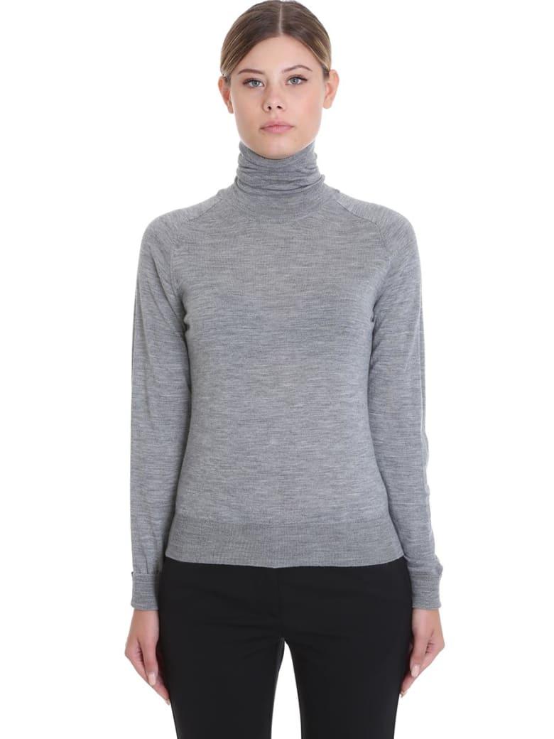 Mauro Grifoni Dolcevita Knitwear In Grey Wool - grey