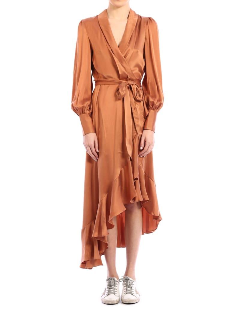 Zimmermann Super Eight Wrap Dress - Beige