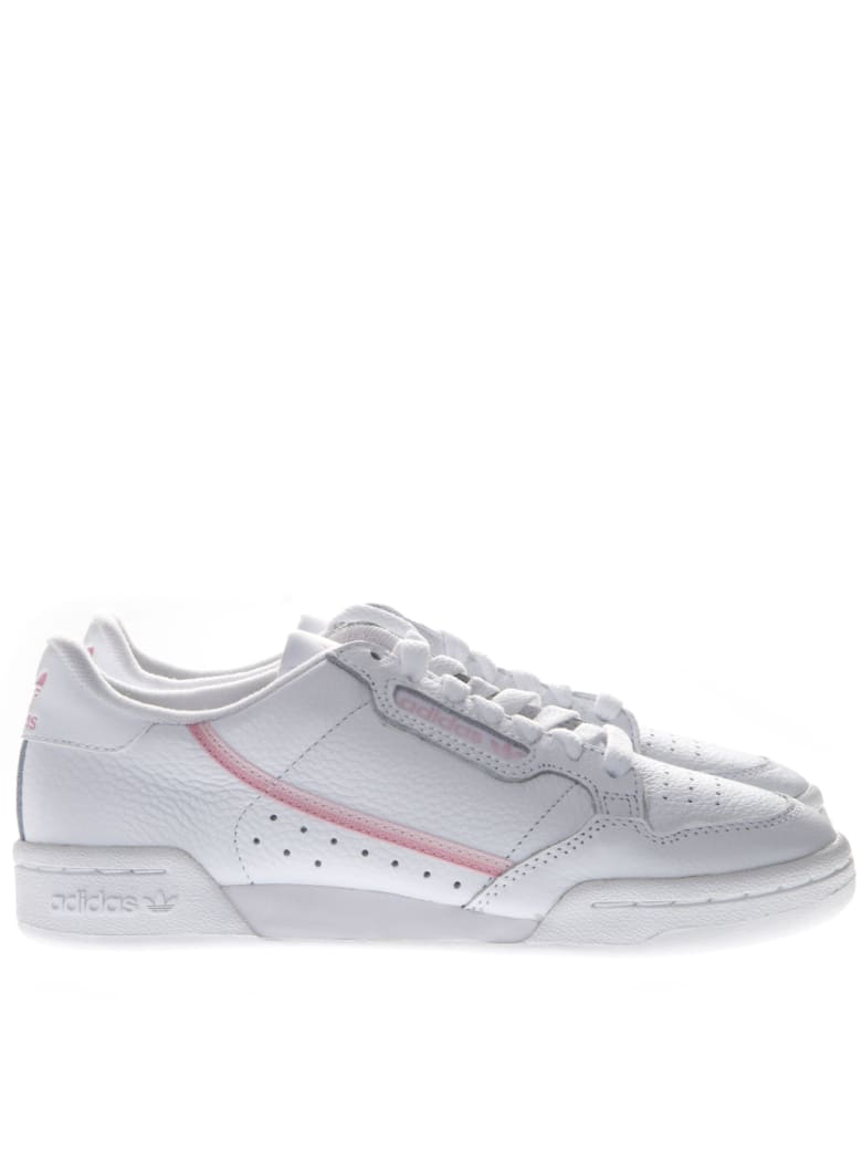 Adidas Originals Continental White Leather Sneakers - White