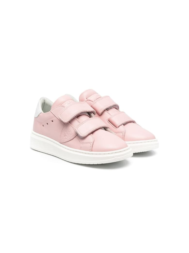 Philippe Model Temple Sneakers In Pink Leather - Pink