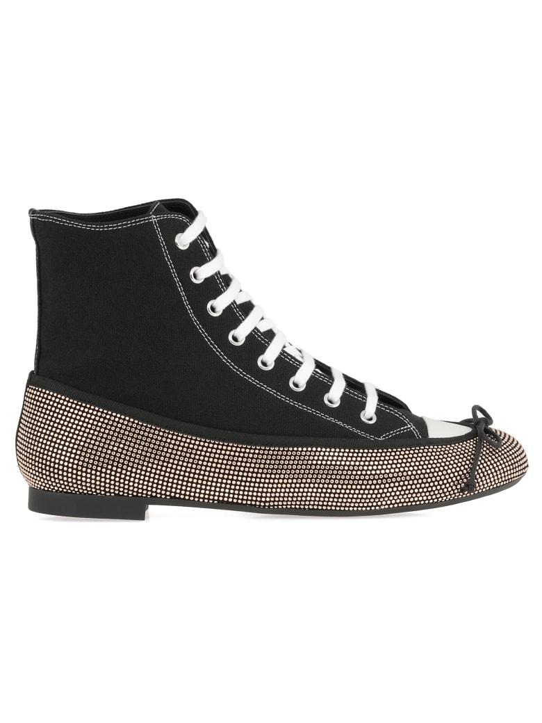 Marco de Vincenzo Sneaker Ballerina Hybrid Boots - Black cl.beige+white