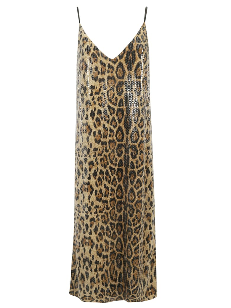 In The Mood For Love Animal Print Dress - Multicolor