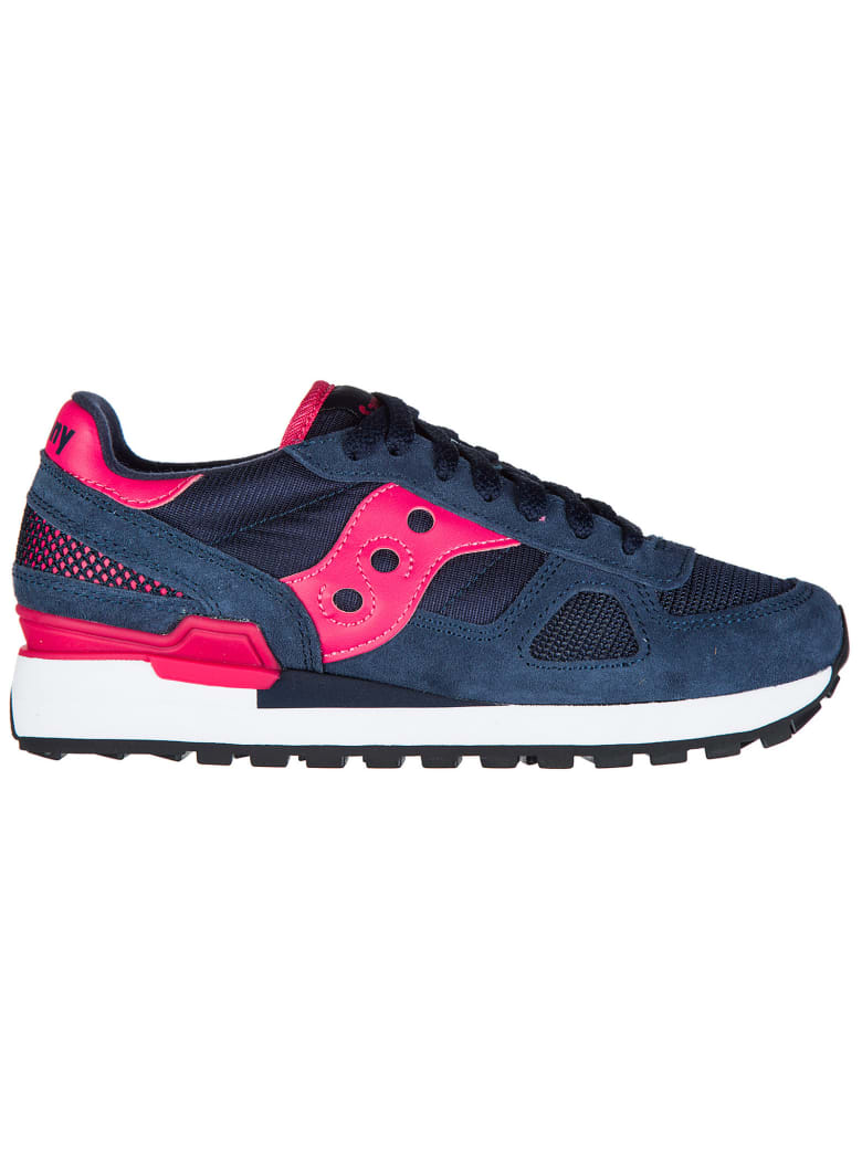Saucony  Shoes Suede Trainers Sneakers Shadow - Navy / Pink