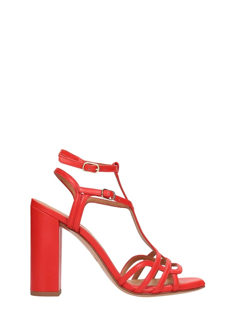 Chie Mihara Red Leather Edel Sandals - red