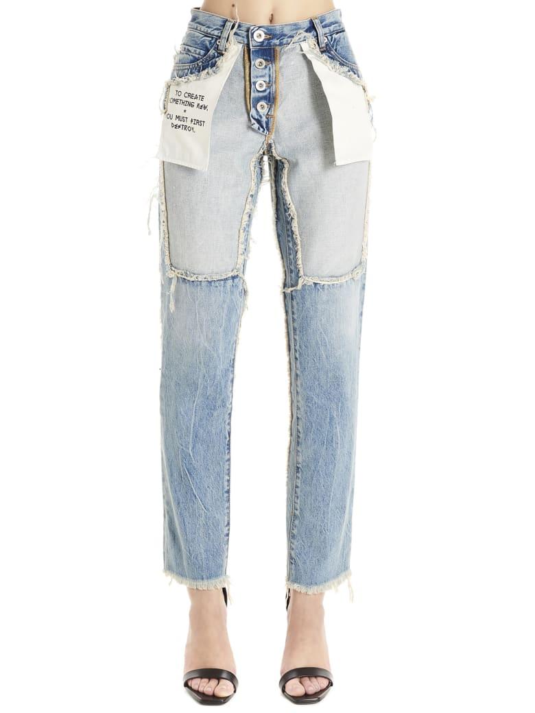 Ben Taverniti Unravel Project 'reverse' Jeans - Light blue