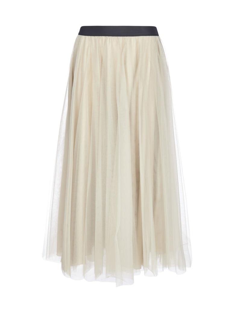 Blanca Vita Grazia Midi Tulle Skirt - Quarzo