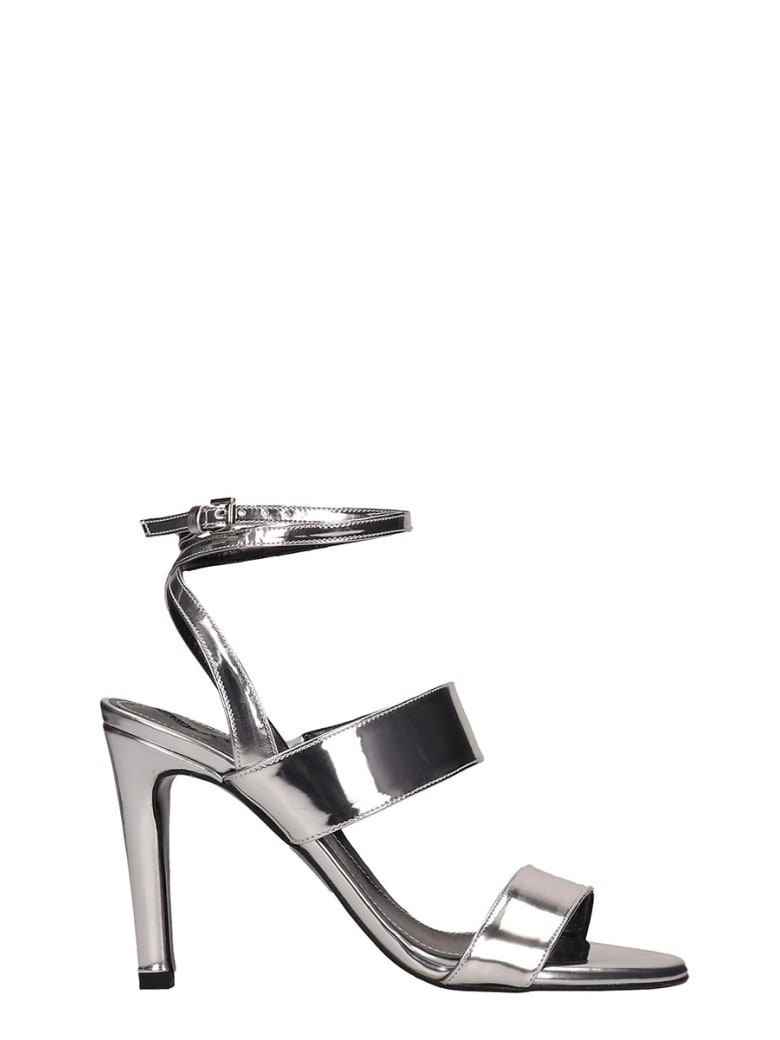 Kendall + Kylie Mikella Silver Leather Sandals - silver