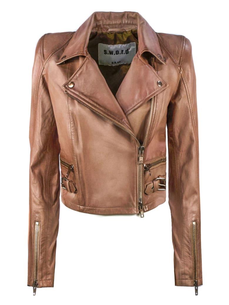 S.W.O.R.D 6.6.44 Pink Biker Jacket - Rosa Antico