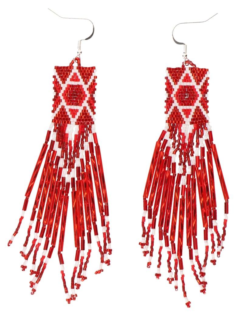 Jessie Western Earrings - Red