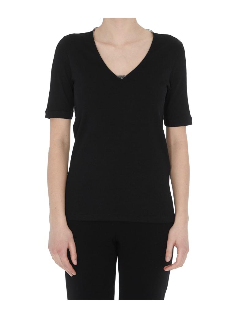 Fabiana Filippi V-neck T-shirt - Black