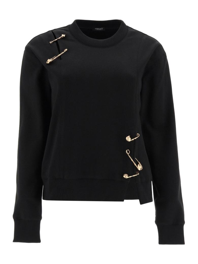 Versace Safety Pin Sweatshirt - NERO (Black)