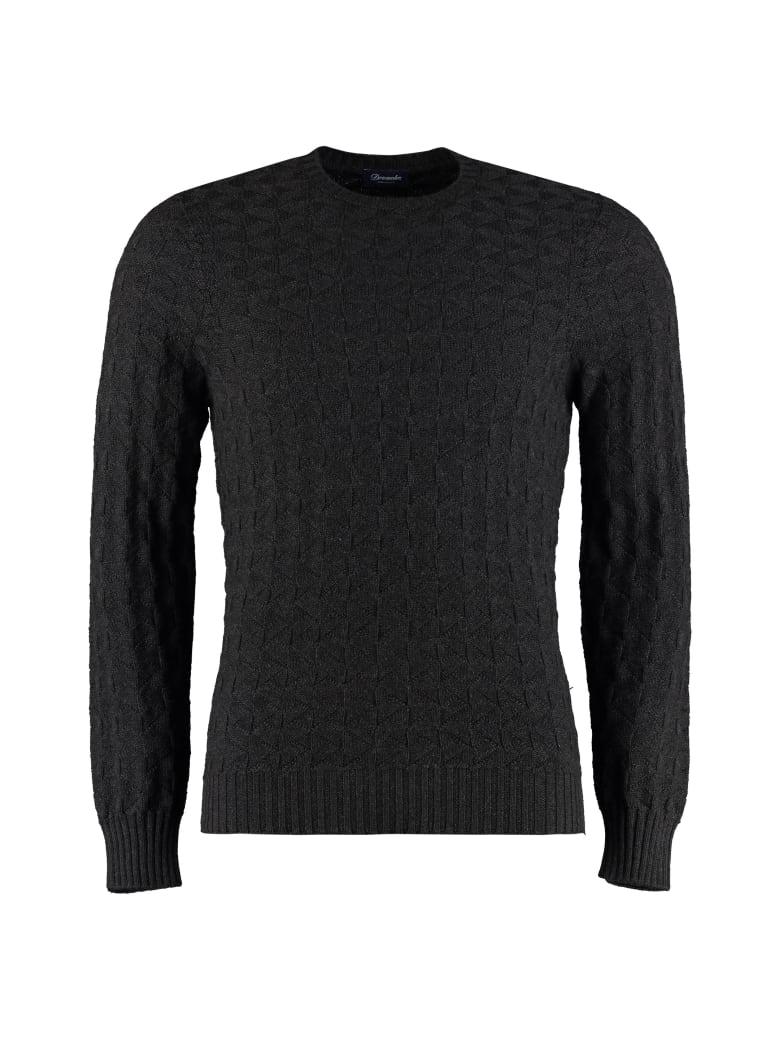 Drumohr Merino Wool Crew-neck Sweater - black