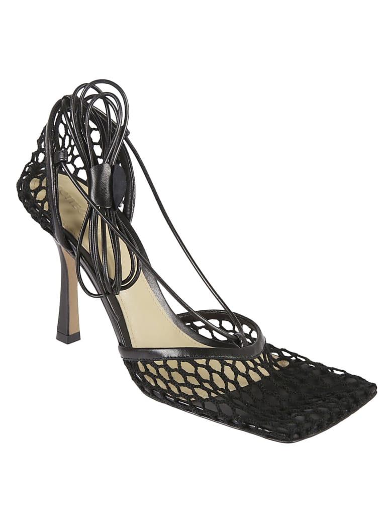 Bottega Veneta Stretch Web Sandals - Black