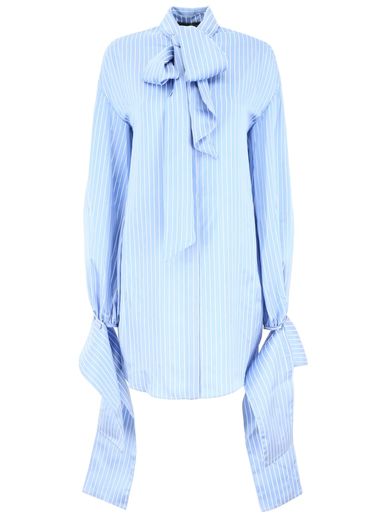 Rokh Shirt With Open Back - LT BLUE (White)