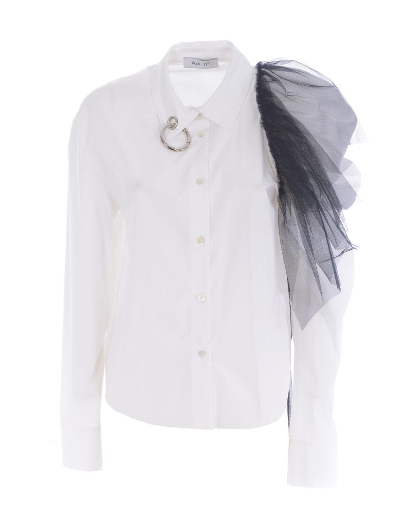 Act n.1 Shirt - Bianco/blu
