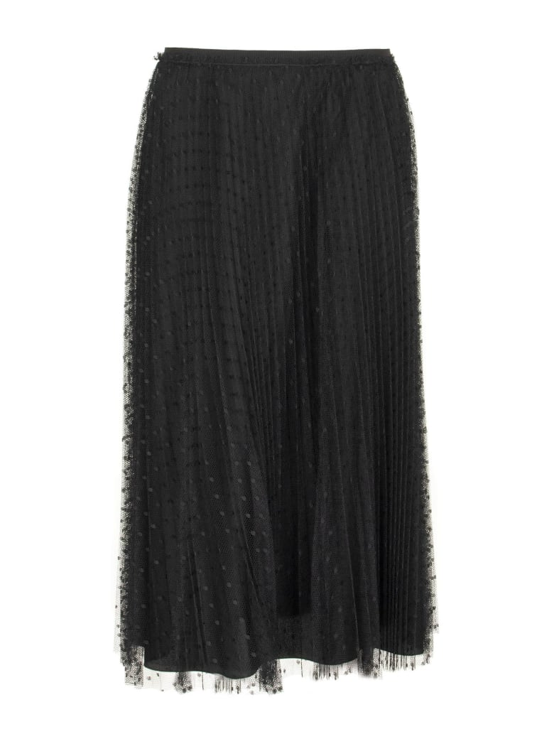 RED Valentino Point D'esprit Tulle Skirt - Black