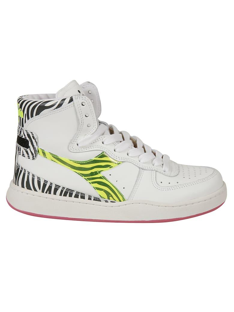 Diadora Heritage Mi Basket H Animalier Sneakers - White